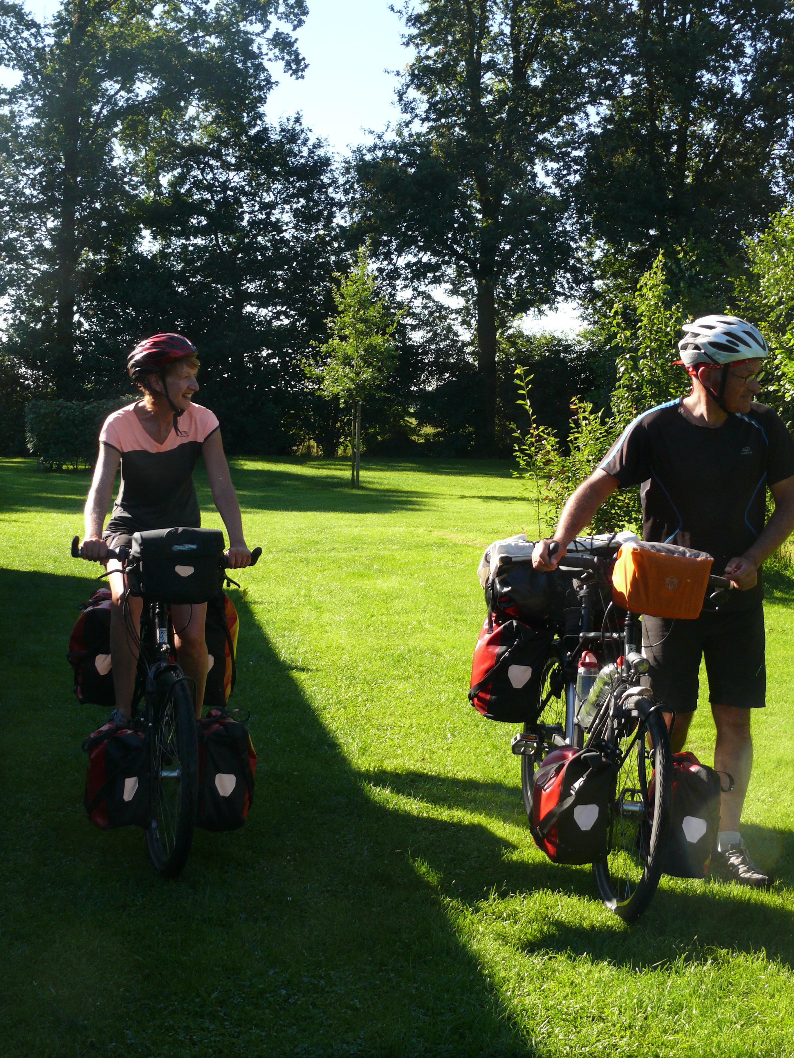 natuurcamping fietser